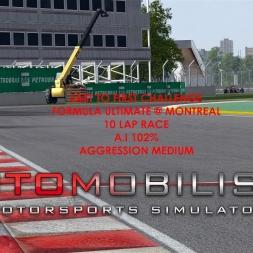Autmobilista Formula Ultimate @ Montreal Last To First Challenge Race 10 Laps