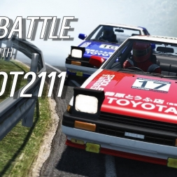 INSANELY FAST AE86 battle with Kajot2111 ⭐ Eurobeat ⭐ - Assetto Corsa Oculus Rift Gameplay