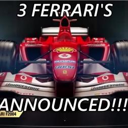 F1 2017 Game News - 3 FERRARI'S ANNOUNCED!!!
