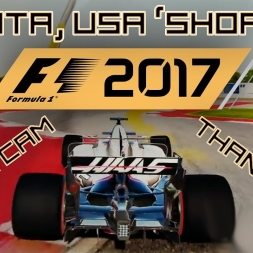 F1 2017 GAMEPLAY - CHASE CAM AT COTA, USA SHORT CIRCUIT E3 + THANK YOU!!!