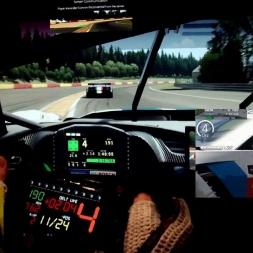 Corvette vs. Ferrari (end of race battle)