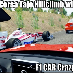 Assetto Corsa Tajo Hill climb with traffic !   F1 CAR  Crazy Fast (2k)