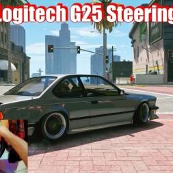 GTA 5 - Logitech G25 Steering Wheel - BMW M6 - Crazy in Traffic (4k)