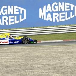 Autmobilista Wiiliams Renault FW14B @ Imola Onboard & Replay