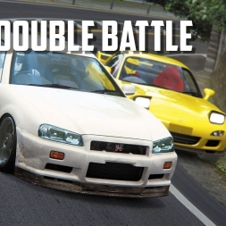 Usui Touge double battle - RX7 fd3s vs Nissan Skyline GT-R R34 - Assetto Corsa Oculus Rift gameplay
