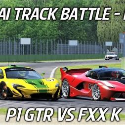 P1 GTR VS FXX K - AI Track Battle at Imola - Assetto Corsa