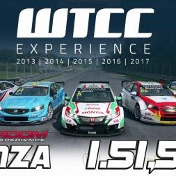 RaceRoom Racing Experience | WTCC 2016 | Chevrolet Cruze | Monza | 1.51,505