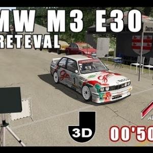 ASSETTO CORSA : BMW M3 E30 : course de côte de FRÉTEVAL