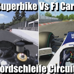 F1 Car Vs Superbike ! Nordschleife Circuit - Assetto Corsa\Ride 2 (2k)