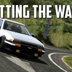 """Hitting the wall"" -  Akina Downhill time-attack - Assetto Corsa Oculus Rift gameplay"