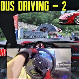 Dangerous Driving 2 - Ferrari 812 Superfast (Wheel cam) - Assetto Corsa