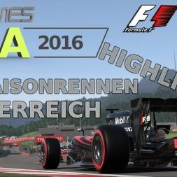 F1 2016 | LIGA 2016 | 18. Saisonrennen | Österreich [www.gpgames.eu]