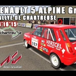 ASSETTO CORSA : Renault 5 alpine Groupe 2 : RALLYE DE CHARTREUSE
