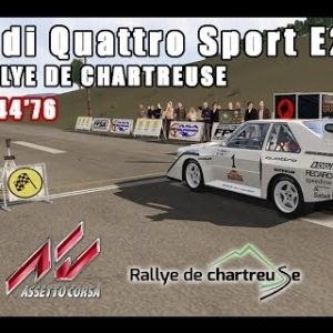 ASSETTO CORSA : Audi Quattro Sport E2 : RALLYE DE CHARTREUSE