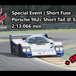 Assetto Corsa | Special Event Short Fuse | Porsche 962c Short Tail @ Spa 2:13:066 min