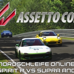 Assetto Corsa Online - Nordschleife - RX7 Spirit R Vs Supra and RX7