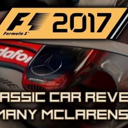 F1 2017 Classic Car Reveal -  McLaren 88, 91, 98 & 08 (Senna, Prost, Hakkinen & Hamilton)