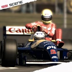 ASR Formula e ddntube present: Silverstone 1991 scene - Mansell and Senna