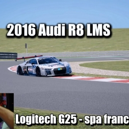 GTA 5 - Logitech G25  - AUDI R8 LMS at  Spa-Francorchamps (4k)
