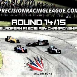 PRL European F1 2016 PS4 Championship [S14] Round 14/15 - Silverstone