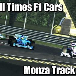Assetto Corsa - Best All Times F1 Cars - Monza Track Day - 1440p