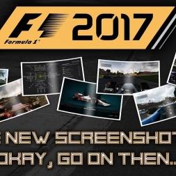 F1 2017 MORE NEW SCREENSHOTS! ONBOARD, R&D, CHALLENGE MENU, THIRD PERSON!