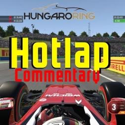 Hotlap around hungaroring in Ferrari (Commentary)   F1 2016
