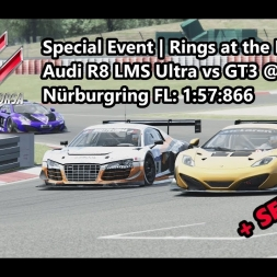 Assetto Corsa | Special Event Rings at the Ring | Audi R8 LMS Ultra vs GT3 @ Nürburgring