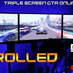 TRIPLE SCREEN GAMING - GTA ONLINE - STUNT RACE -  I GOT TROLLED