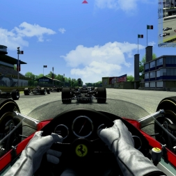 [Assetto Corsa (EA082)] - Lotus 49 - Monza '66 - Race Full Grid - New AI - Logitech G27 - Full HD