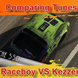 Comparing Tunes - Porsche 550 - Raceboy VS Kezzen