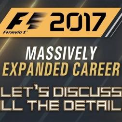 Let's Talk F1 2017 - Career Mode - ALL THE DETAILS IN DEPTH!!