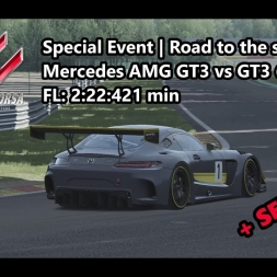 Assetto Corsa | Special Event Road to the stars | Mercedes AMG GT3 vs GT3 @ Spa FL: 2:22:421 min