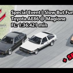 Assetto Corsa | Special Event Slow But Fun | Toyota AE86 @ Magione FL: 1:36:421 min