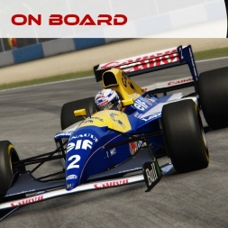On Board #106 : Williams Renault FW15B 1.0 by ACFL (Donington Park) [4K]