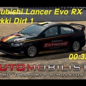 Automobilista (1.4.53r) - Time Trial - Mitsubishi Lancer Evo Rallycross @Tykki Dirt 1
