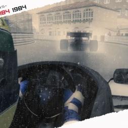 ASSETTO CORSA Ayrton Senna Toleman TG184 wet race at Monaco 1984