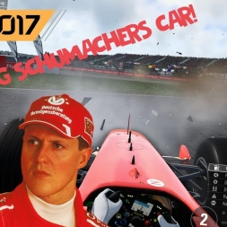 F1 2017 - CRASHING MICHAEL SCHUMACHER'S FERRARI!