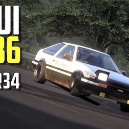 Usui AE86 vs GT-R R34 double battle ⭐ Eurobeat ⭐  - [Assetto Corsa oculus Rift Gameplay]