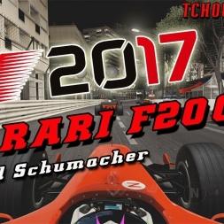 F1 2017 - FERRARI F2004 MONACO AT NIGHT! AMAZING!!