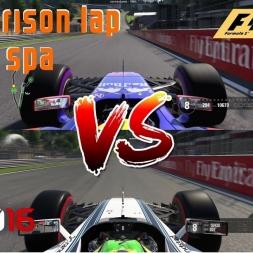 F1 2016 vs. F1 2017 | Hotlap comparison @ Spa