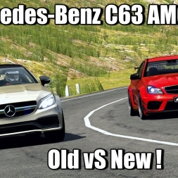 Assetto Corsa - Mercedes-Benz C63 AMG Old vS New at Transfagarasan