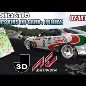 ASSETTO CORSA : Toyota Celica ST185 : Rallye des vins du Gard : Collias