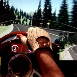 AC - Lake Louise Highway Loop - Maserati 250F 6 cyl - 100% AI 2 laps race