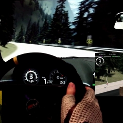 AC - Lake Louise West Loop - Jaguar XKR-S - 98% AI 2 laps race