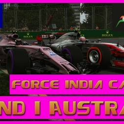 F1 2017 Career Mode Force India - Round 1 Australia - Safety Car Robs Us