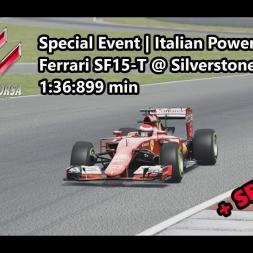 Assetto Corsa | Special Event Italian Power | Ferrari SF15-T @ Silverstone GP 1:36:899 min