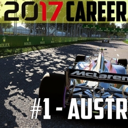 F1 2017 CAREER MODE #1 - Make Mclaren Great Again - Australia GP