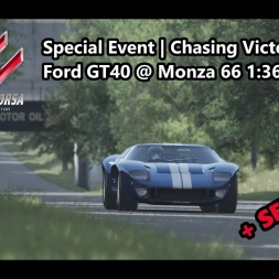 Assetto Corsa | Special Event Chasing Victory | Achievement Gold | Ford GT40 @ Monza 66 1:36:920 min