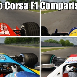 Assetto Corsa - F1 1992 - 2002 - 2004 - 2009 Lap Comparison Monza